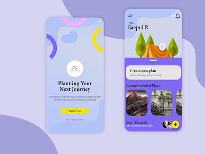Travelling-mobile app app game design uiux icon design illustration photoshop ux ui game art designer