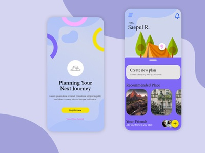 Travelling-mobile app app game design uiux icon design illustration photoshop ux ui game art designer