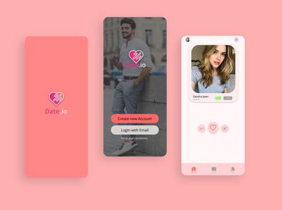 Dating App | Mobile App design gamedesign icon icon design photoshop logo designer ux ui game design game art