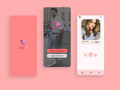Dating App   Mobile App design gamedesign icon icon design photoshop logo designer ux ui game design game art