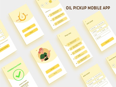 OIL PICKUP MOBILE APP app branding vector typography game design icon design illustration photoshop logo website mobile app uiux