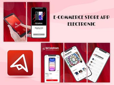 E-commerce store app electronic illustrator photoshop cartoon games gamedesign uiux apps mobileapps website branding logo graphic design