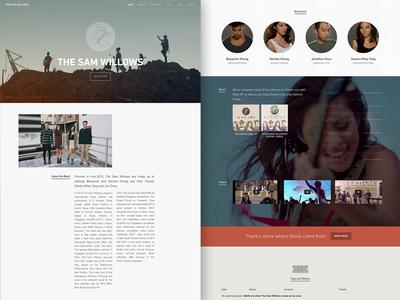 The Sam Willows Website landing ui web video music musician bands