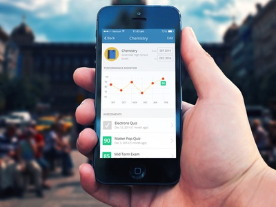 Gradepoll - Academic Performance Tracking ios design ui ux uiux app design mobile mobile app grades graph