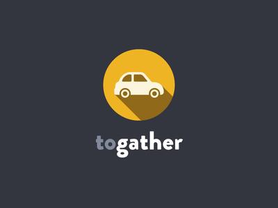 Togather - Logo Concept Design logo design print branding identity car transport flat
