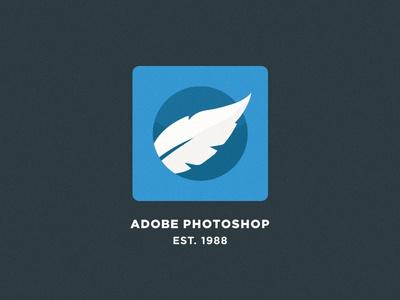 Adobe Photoshop - Flat Logo Concept logo concept icon flat design adobe photoshop branding