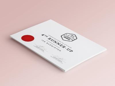Letter-pressed Certificate Mockup award awards letterpress design certificate print stamp vintage