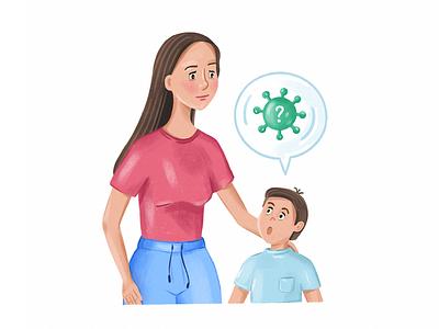 Talking to kids about virus coronavirus virus talk son mother family