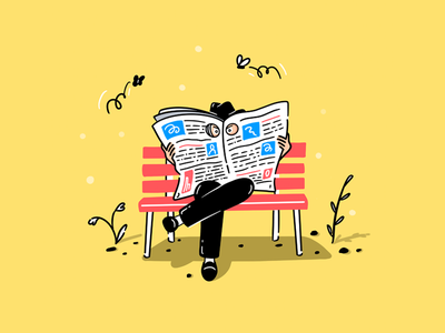 Spy man procreate illustration newspaper character spy old-school