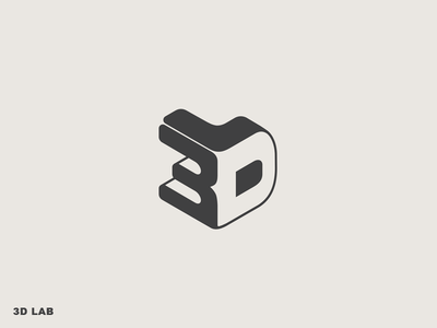3D Lab logo logodesign 3dprinting 3dprinter 3d branding logotype logo