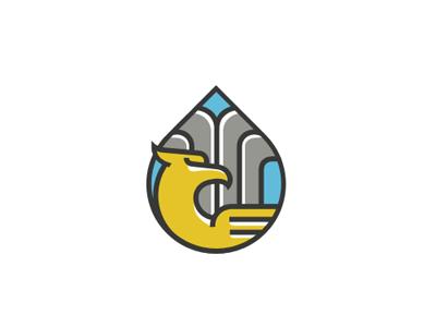 Oil company (steppe eagle and oil fountain)
