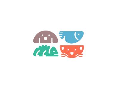 animal pictograms for logo