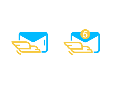 email service and messenger envelope sun bird eagle steppe message send email