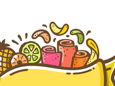 Fruit chips and paste orange pineapple banana organic food paste chips fruit