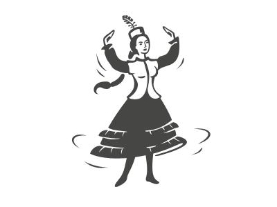 kazakh woman dancing