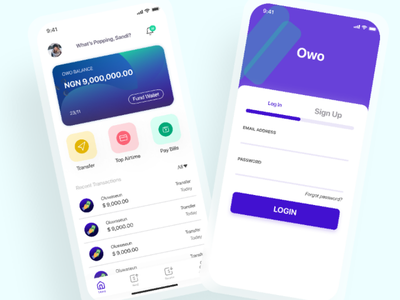 Owo - WIP cryptocurrency bitcoin cash money uiux design thinking ux ui