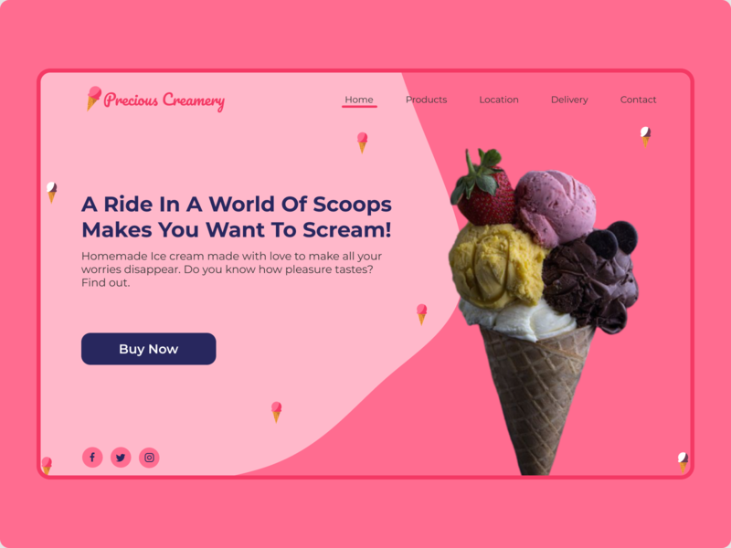 The Creamery web page web typography design ux ui