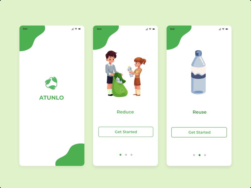 Recycle App illustration app design ux ui