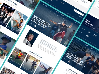 Laureus Sports Foundation x Delete sketch typography photography web design gradient light digital ux ui component sport minimal clean ui charity sports