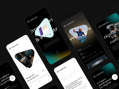Code Resolution Refresh - Mobile webdesign typography dark black portfolio responsive mobile agency glow ui minimal clean