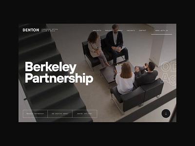 Denton - Hero Concept interior sketch ux transition aftereffects webdesign typography interior design video motion minimal ui