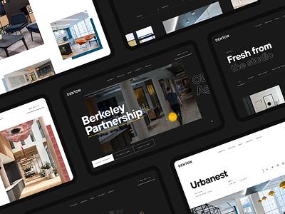 Denton – Interior Design & Build website work in progress architecture interior typogaphy minimal black and white webdesign ux ui interior design