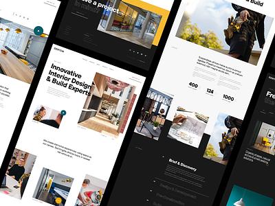Denton – Interior Page Exploration typogaphy ux ui sketch webdesign work in progress architecture texture minimal blackandwhite design interior