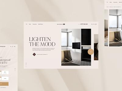 BathroomTV Refresh - Light Concept brand interface texture light ambient ecommerce branding typography minimal ui ux web product