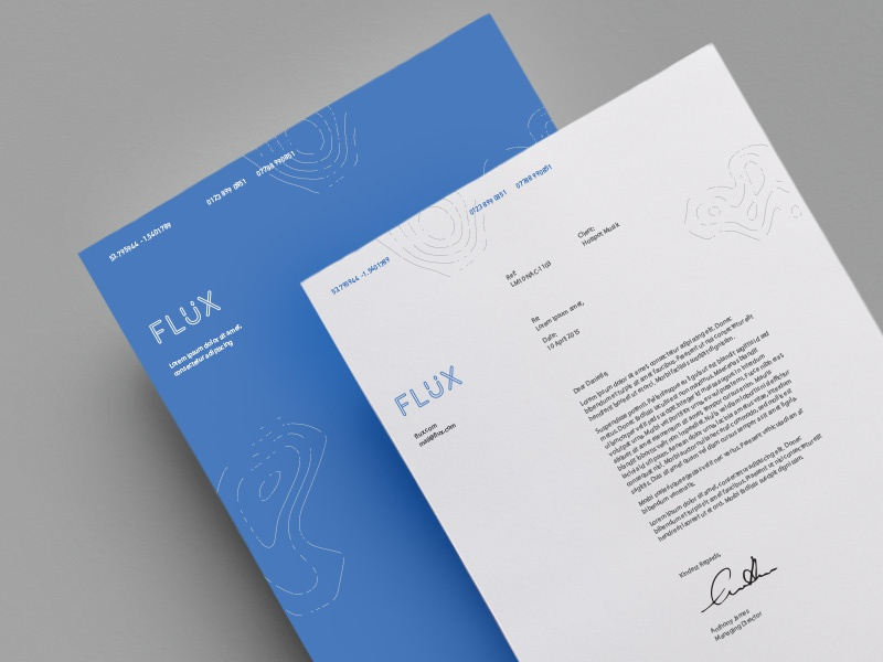 Flux Branding branding print logo vector music portfolio identity