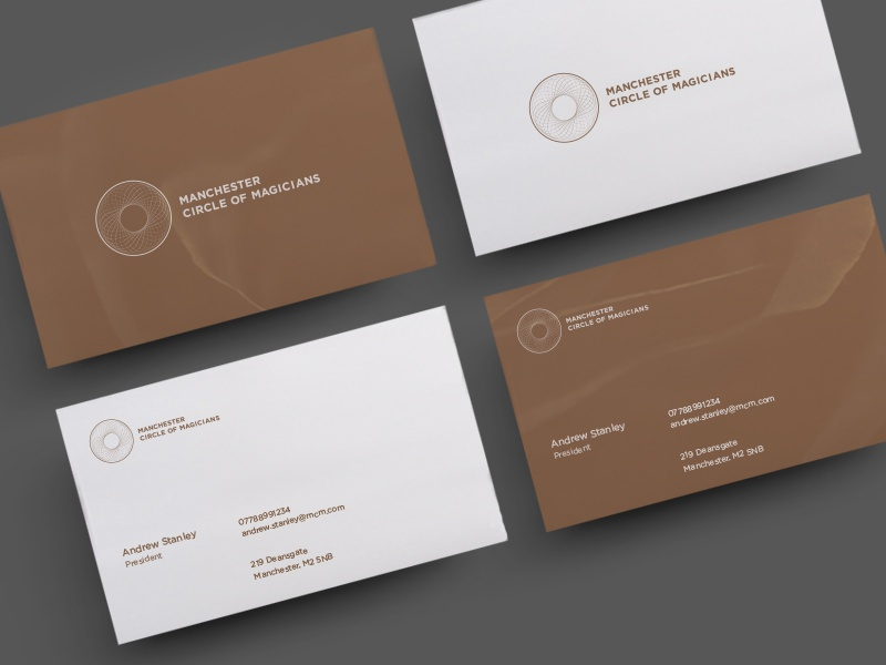 Manchester Circle of Magicians Branding branding business cards print logo independent magic typography
