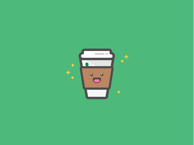 Gimme Coffeee starbucks cute illustration coffee