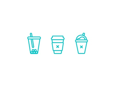 Minimal Drinks Icons
