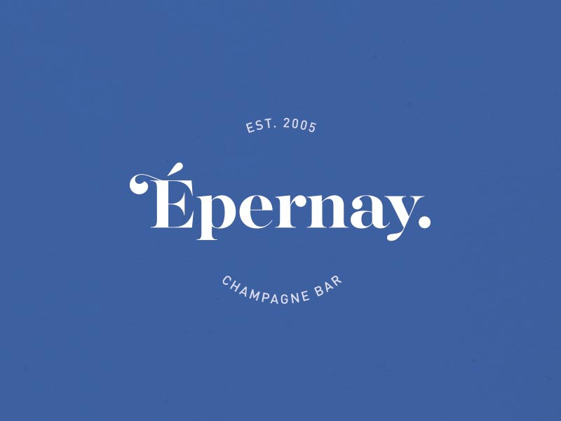 Epernay illustration blue
