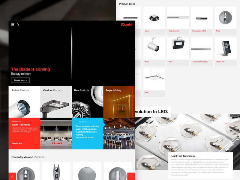 iGuzzini x Delete helvetica minimal light italian phototgraphy typography product architechture ux ui digital case study website