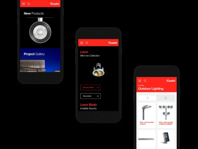 iGuzzini x Delete helvetica italian minimal light photography typography mobile layout ux ui digital case study lights architecture
