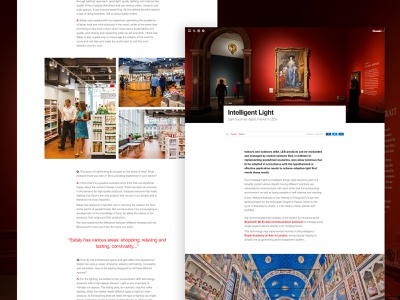 iGuzzini x Delete website ux design ui product photography minimal light italian helvetica typography editorial digital case study architecture
