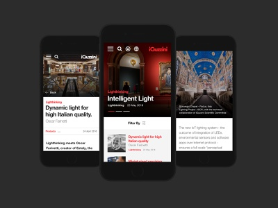 iGuzzini x Delete website ux ui product photography light helvetica italian typography editorial case study minimal architecture mobile