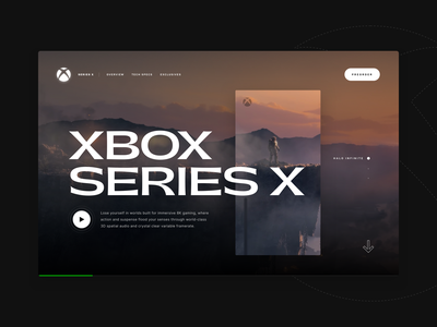 Xbox Series X - UI Experiment promo c4d web design xbox series x layout xbox webgl interface typogaphy clean minimal ui web