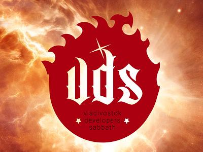 VDS logo phoenix nebula vector logo conference fire ball tribal