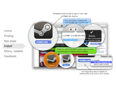 HackStore Tutorial Slider hackstore tutorial slider zoom loupe bubbles