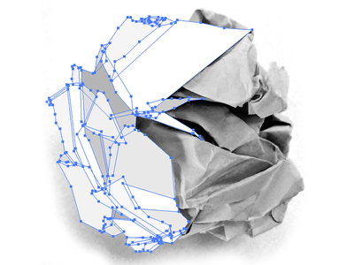 Vector crumpled paper ball vector paper grayscale