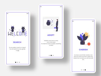 Adoption App - Onboarding designer appdesigner appdesign minimal interface inspiration app ux ui design