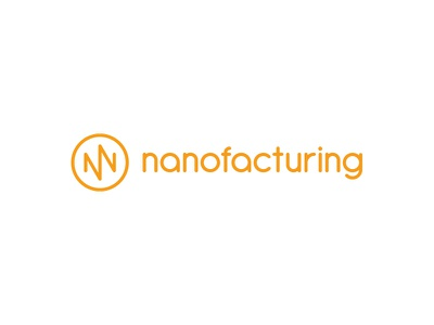 Nanofacturing brand identity logo nanofacturing