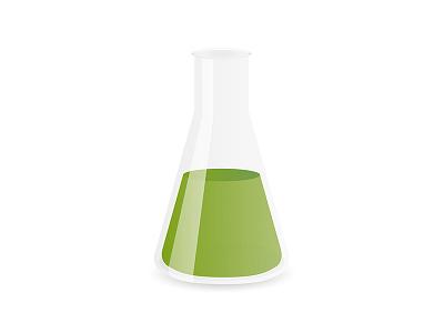 Chemistry Flask illustrator vector science bottle glass green flask chemistry illustration
