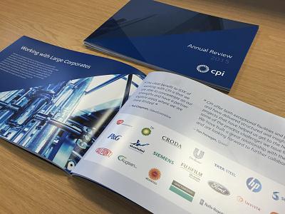 CPI 2015 Annual Review spot uv perfect bound brochure print annual report