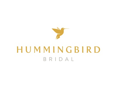 Hummingbird Bridal wedding bridal mark logo branding identity brand