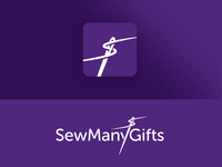 SewManyGifts Logo and App Icon identity branding logo