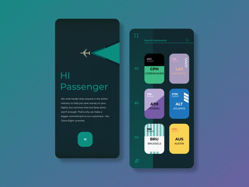 Flight Agency mobile app ux ui design