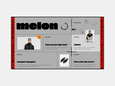 This is the way to do it - Melon doodle grotesk modern brutal sale app ecommerce app ecommerce shop vector icon poster typography ux ui website web blog design concept
