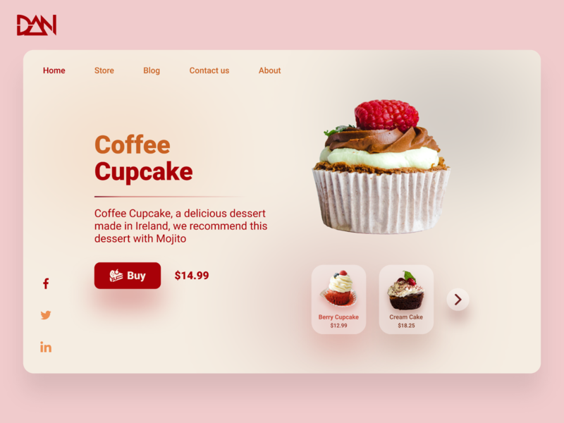 User interface design of Cupcake product sales page 🍰🍩 website web design webdesign web ui  ux uiux uikit uiux design web ios app mobile uidesign design uiuxdesign